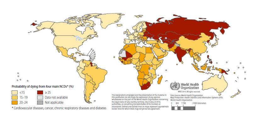 Вероятность неинфекционные заболевания